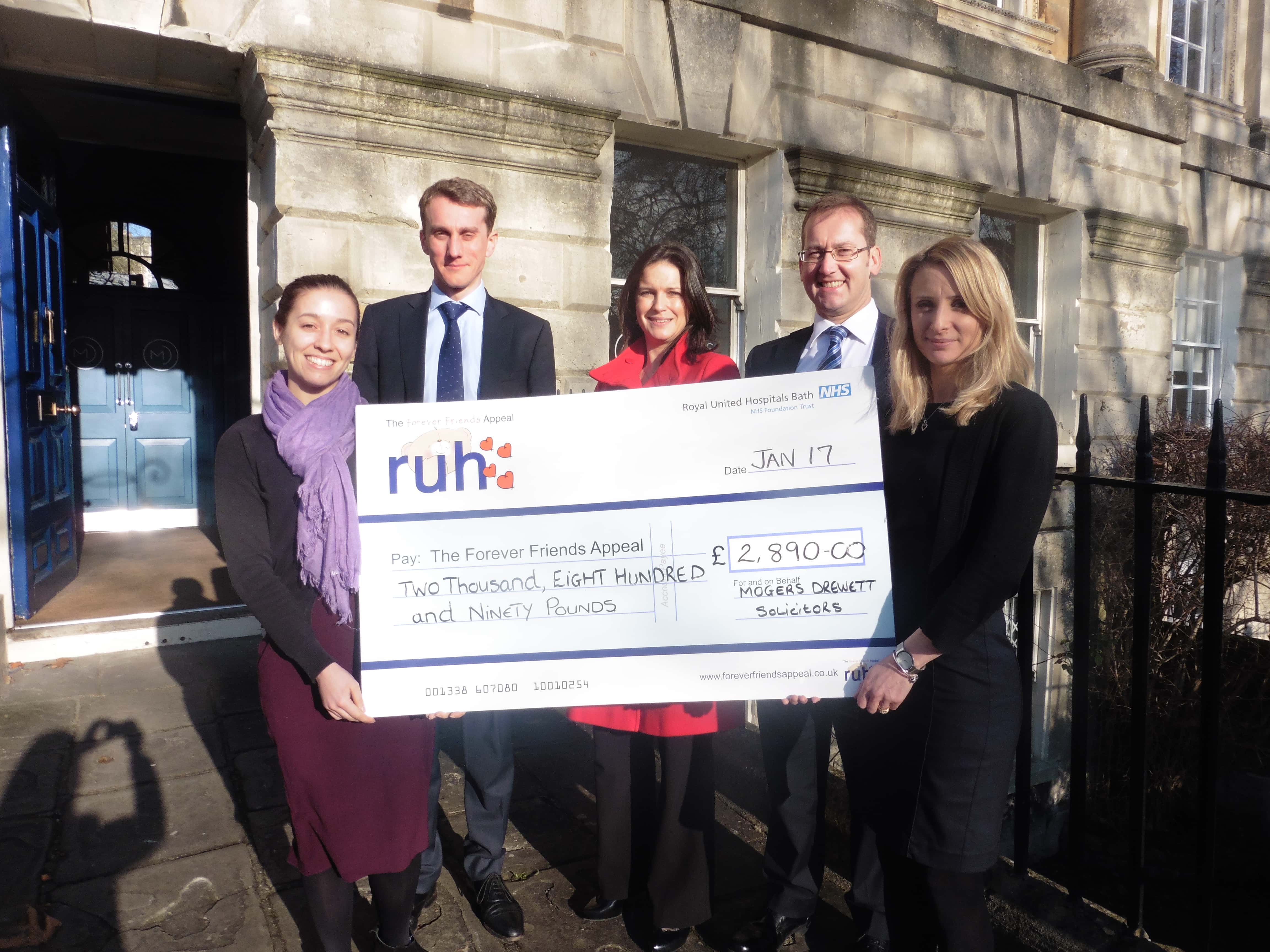 RUH will month forever friends appeal cheque 2017